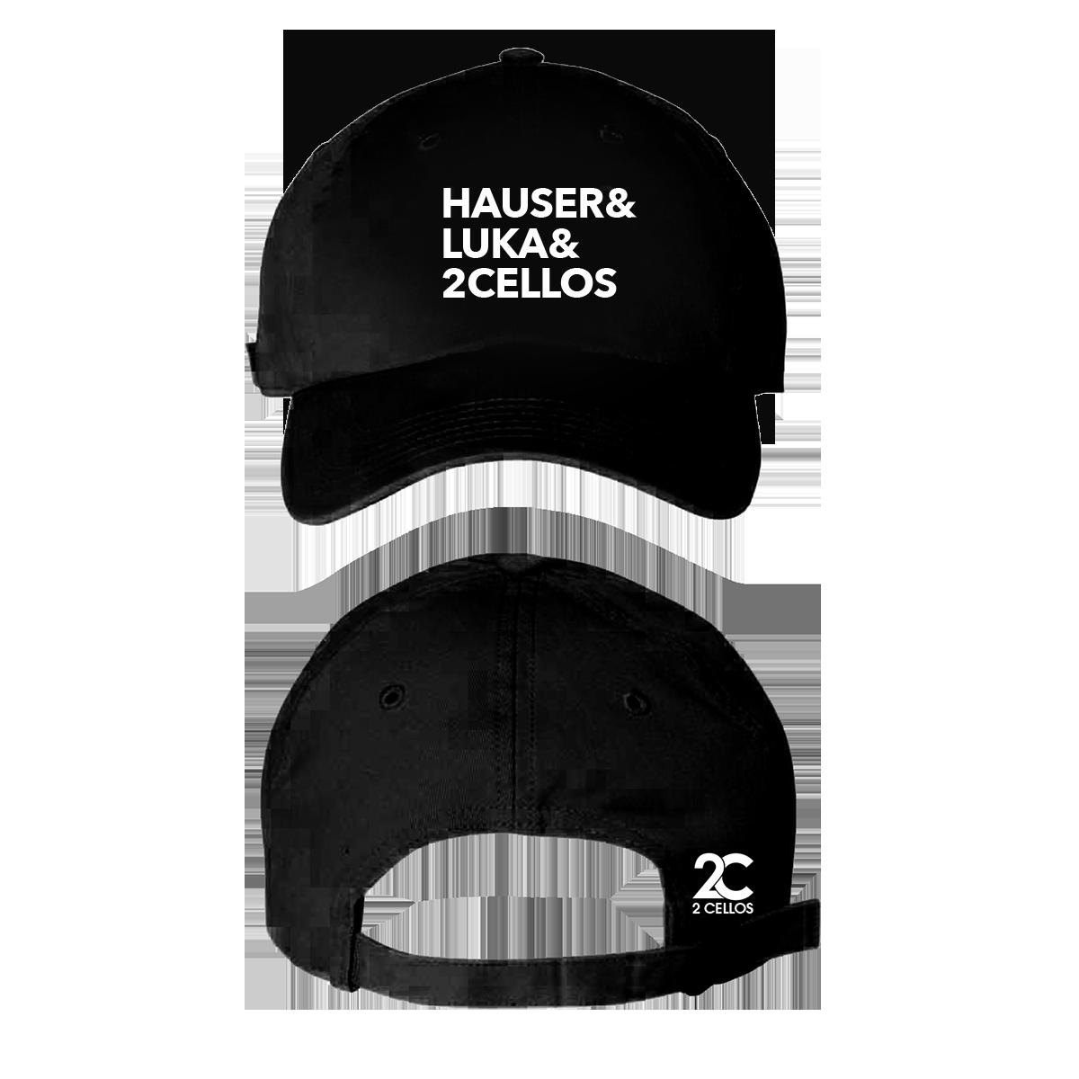 Buy Online 2 Cellos - 2CELLOS Black Dad Hat