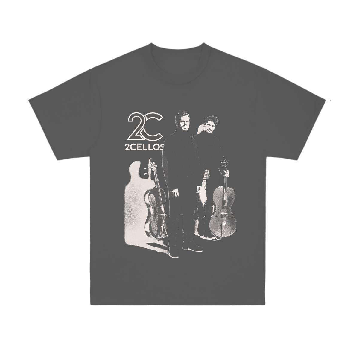 Buy Online 2 Cellos - 2CELLOS Dedicated Photo Charcoal T-Shirt