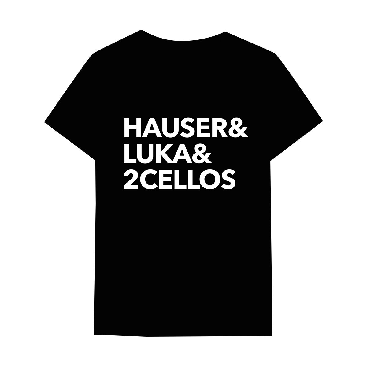 Buy Online 2 Cellos - Hauser & Luka & 2CELLOS Black T-Shirt