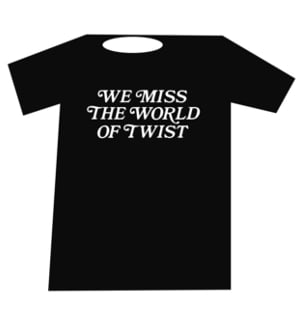 Buy Online World Of Twist - We Miss The World Of Twist t-shirt