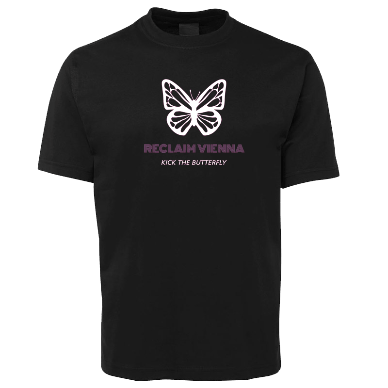 Buy Online Reclaim Vienna - Kick The Butterfly T-Shirt