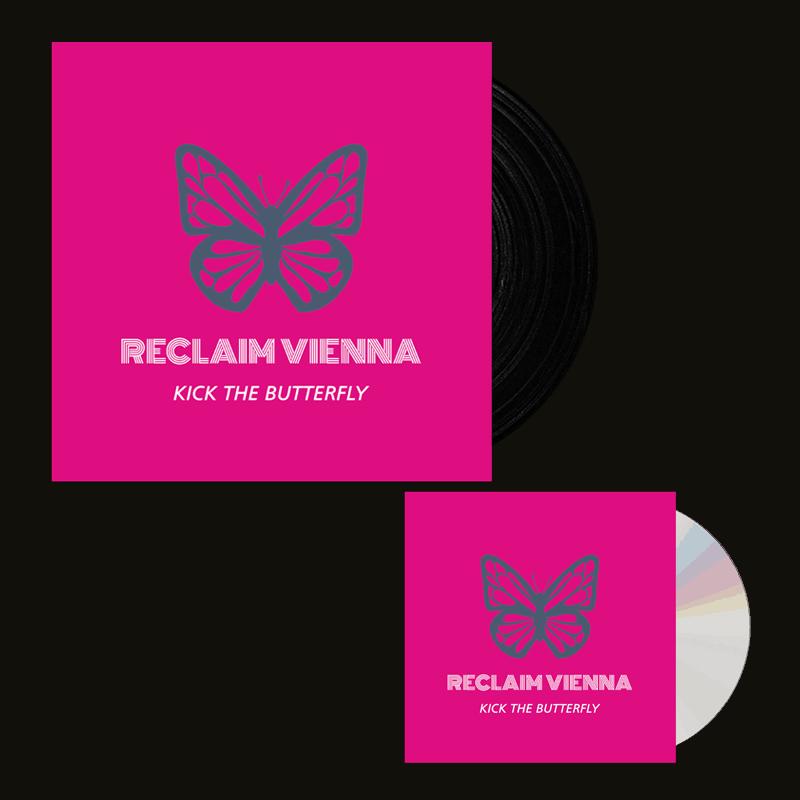 Buy Online Reclaim Vienna - Kick The Butterfly CD + Black 7-Inch