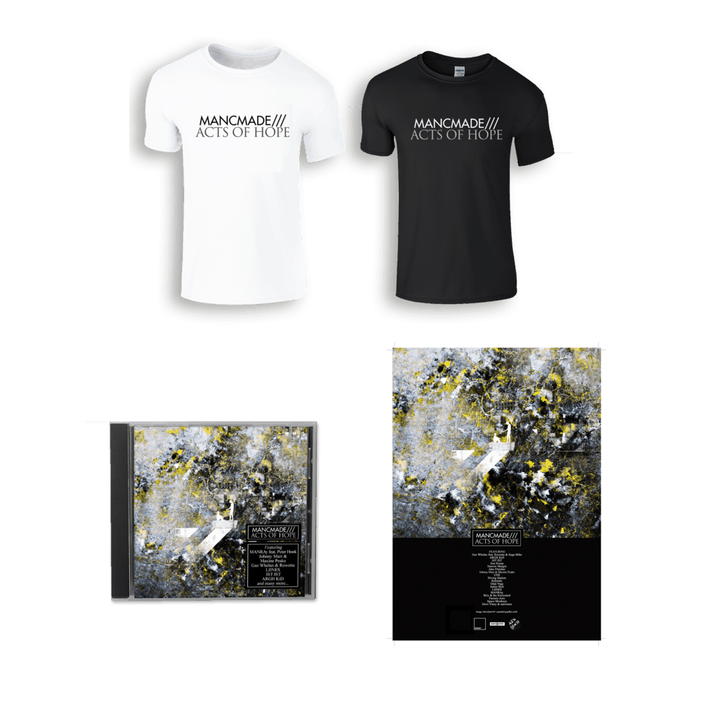 Buy Online Manc Made - MancMade///Acts of Hope CD + T-Shirt + A3 Poster