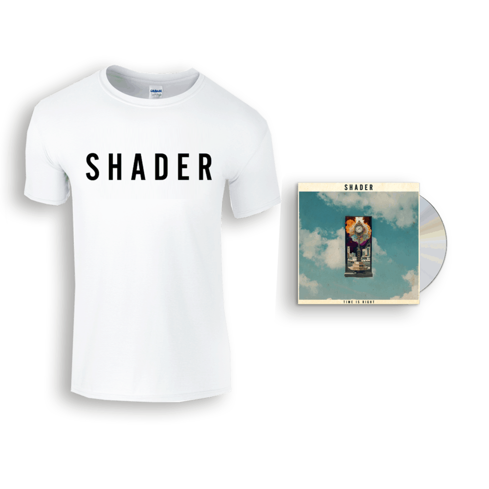 Buy Online Shader - Time Is Right CD + Shader Logo T-Shirt