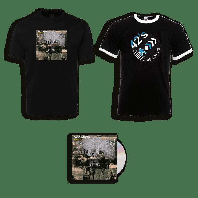 Buy Online Skylights - Enemies CD + Enemies T-Shirt + 42's Records T-Shirt