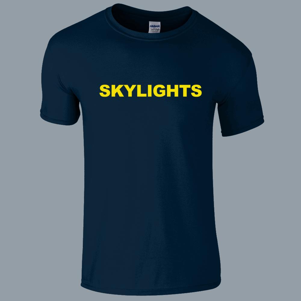 Buy Online Skylights - Navy Logo T-Shirt