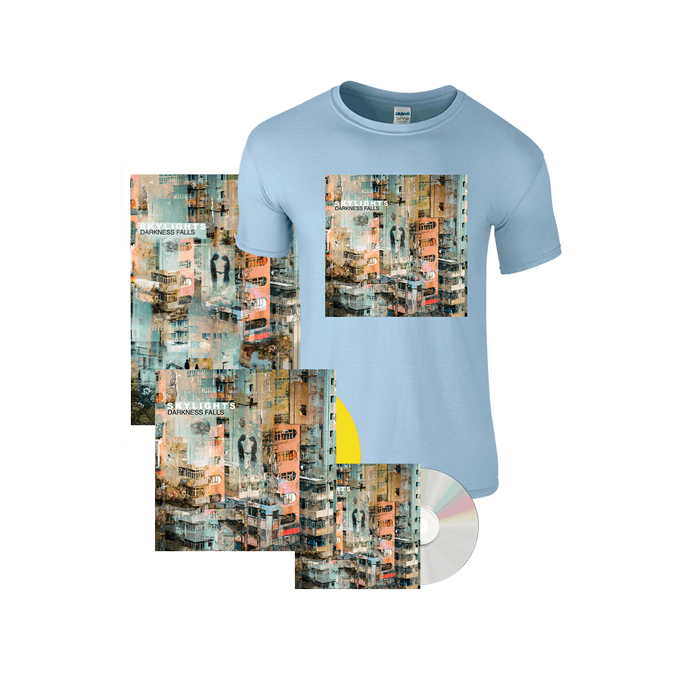 Buy Online Skylights - Complete Darkness Falls Bundle (7 inch Vinyl, CD, Light Blue Tee + Poster)