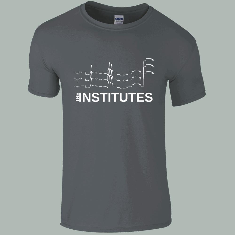 Buy Online The Institutes - Logo T-Shirt - Grey