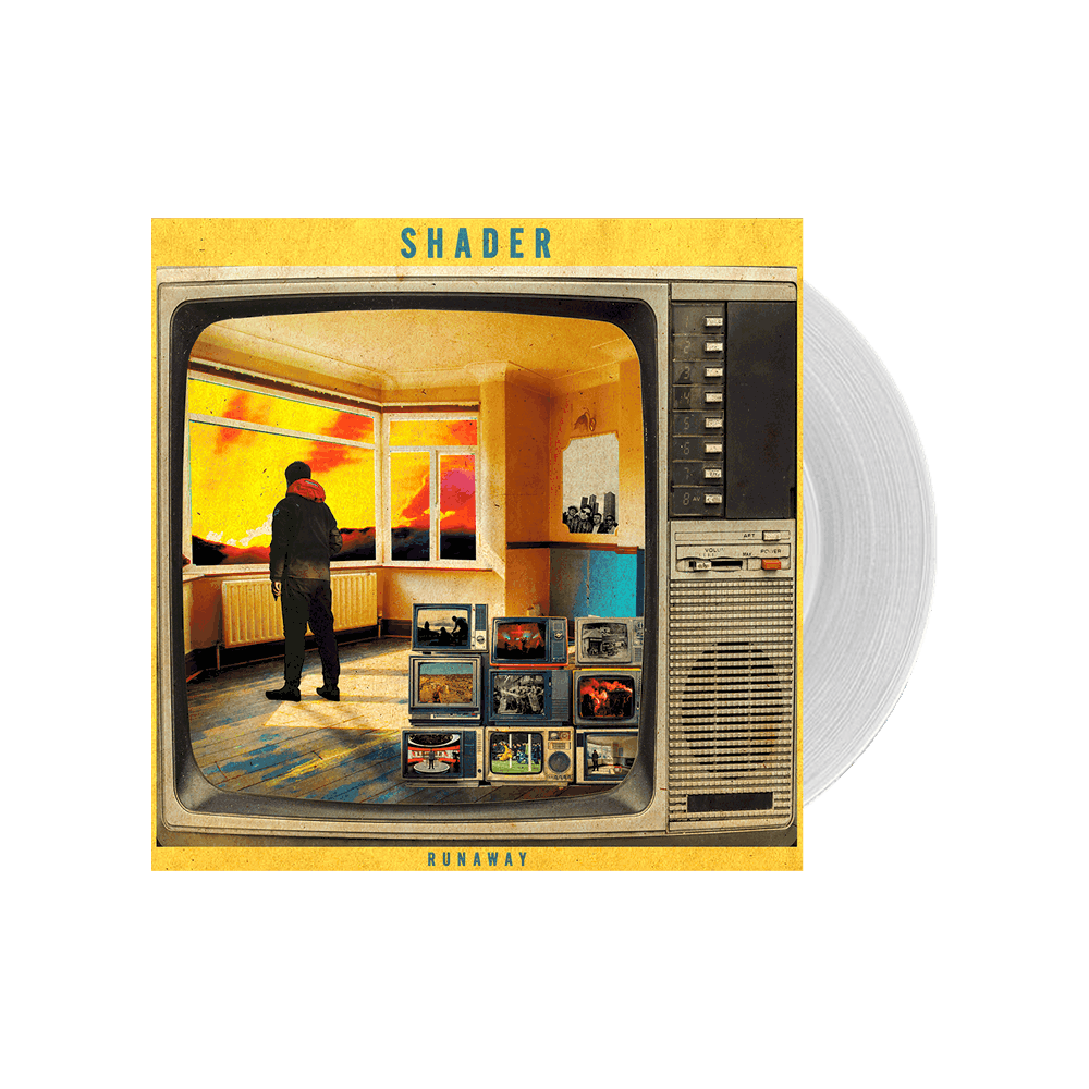 """Buy Online Shader - Runaway - Limited Edition 7"""" Clear Frosted Vinyl Single"""