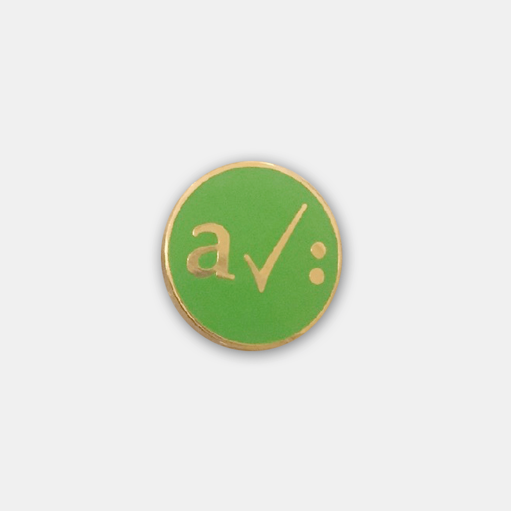 Buy Online A Certain Ratio - Enamel Badge - Gold/Green