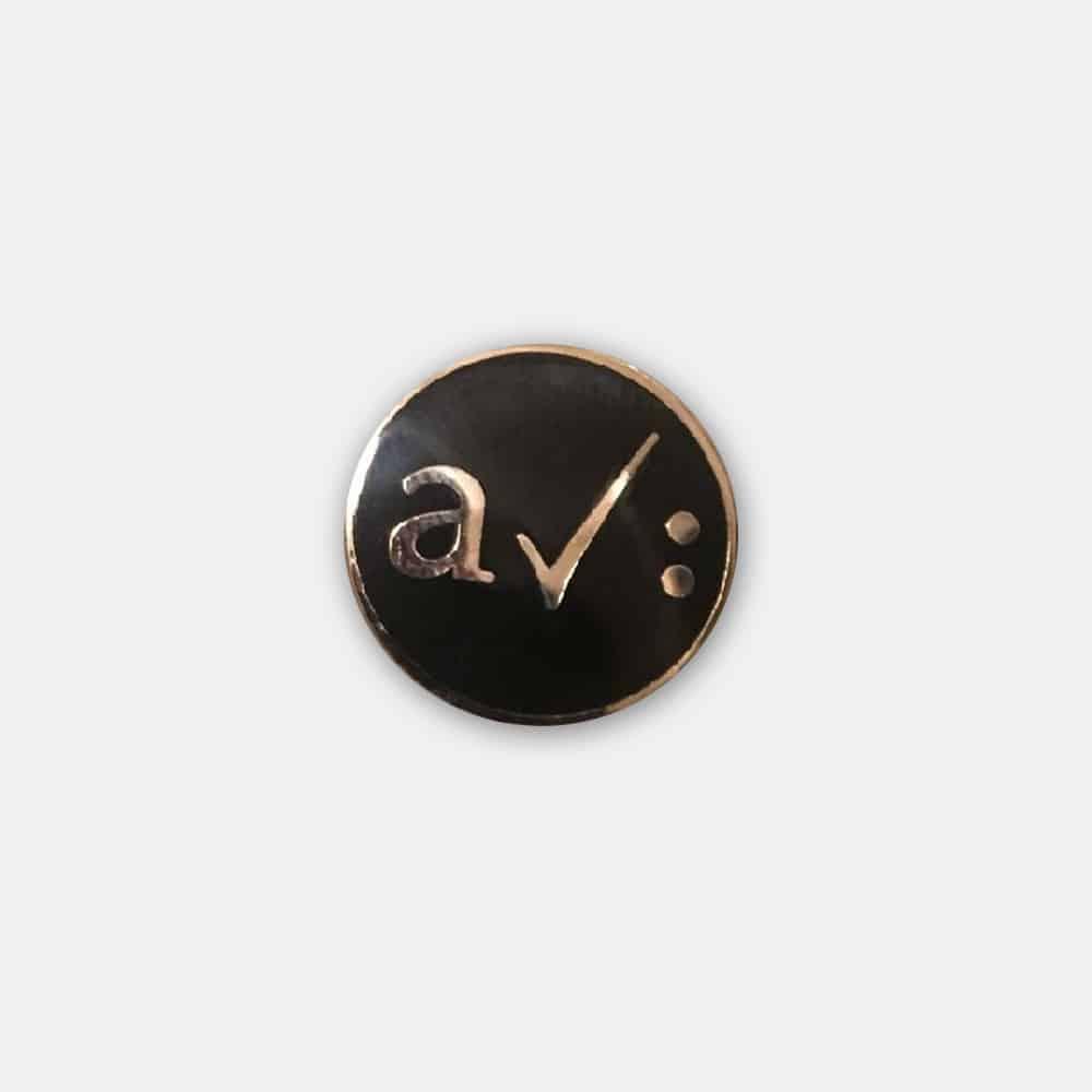 Buy Online A Certain Ratio - Enamel Badge - Silver/Black