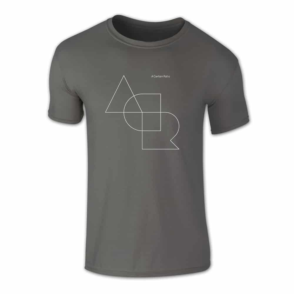 Buy Online A Certain Ratio - ACR Stacked Outline T-Shirt