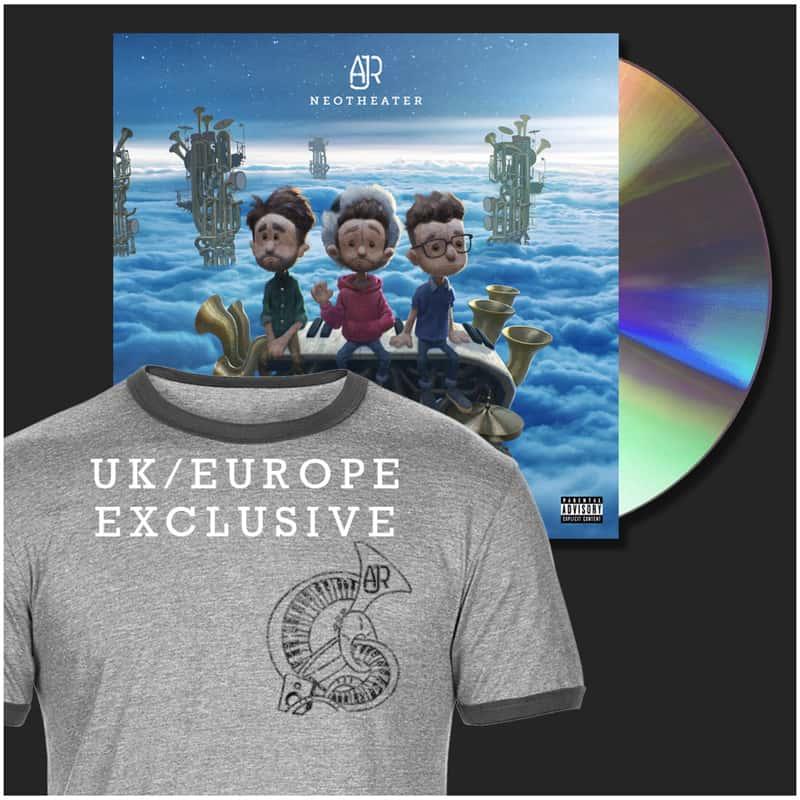 Buy Online AJR - Grey Unisex T-Shirt + CD