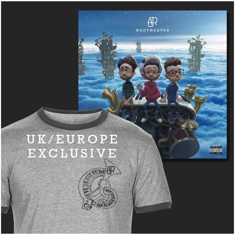 Buy Online AJR - Grey Unisex T-Shirt + Digital Album
