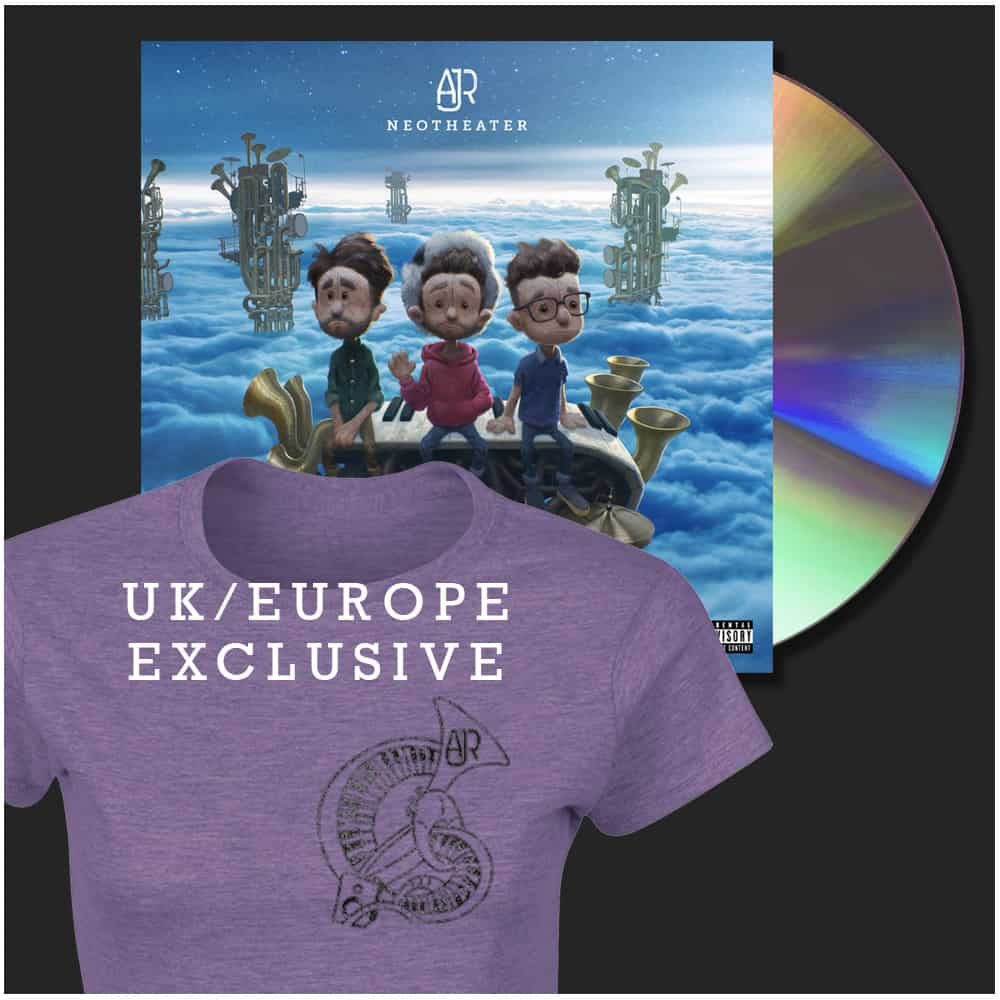 Buy Online AJR - Purple Female T-Shirt + CD