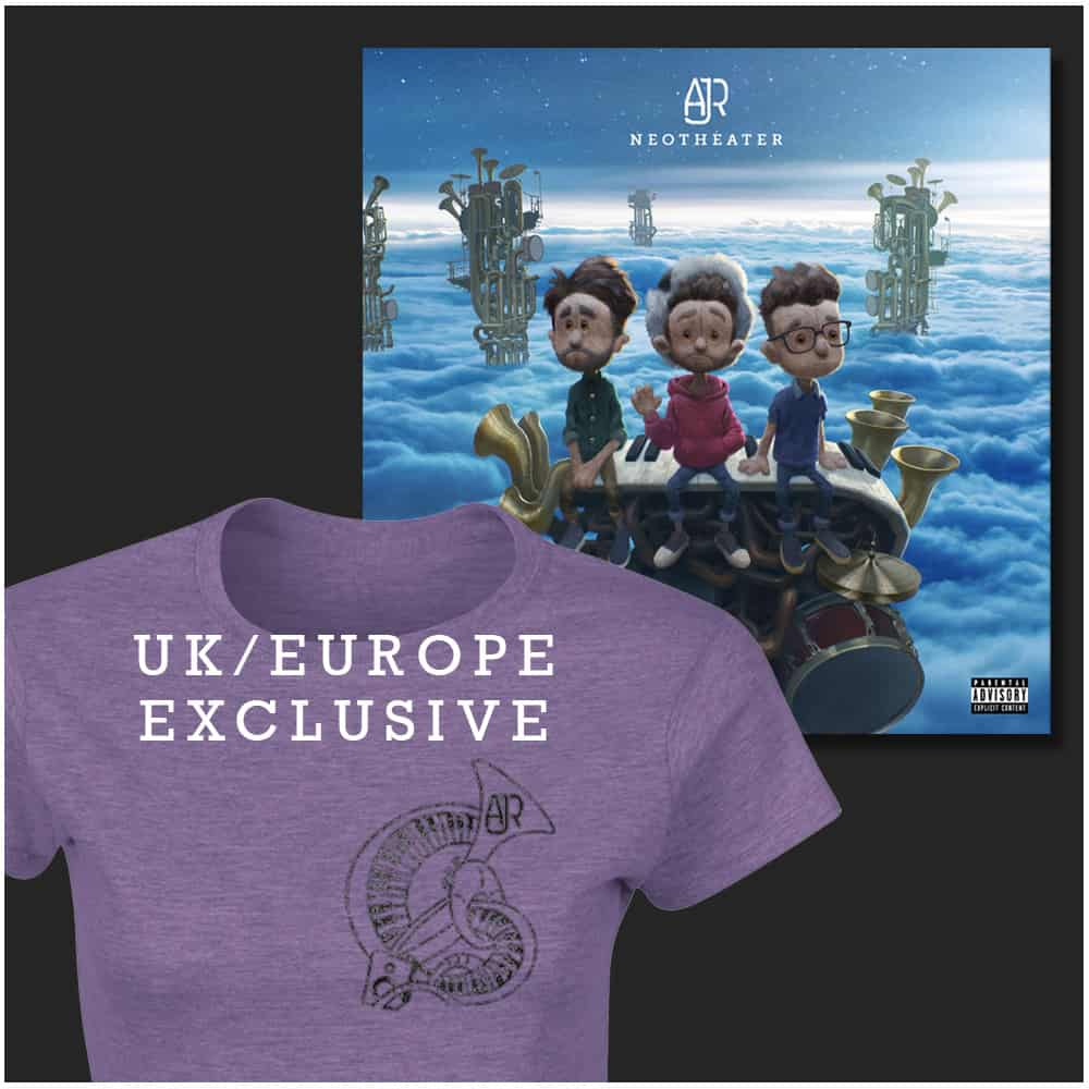 Buy Online AJR - Purple Female T-Shirt + Digital Album
