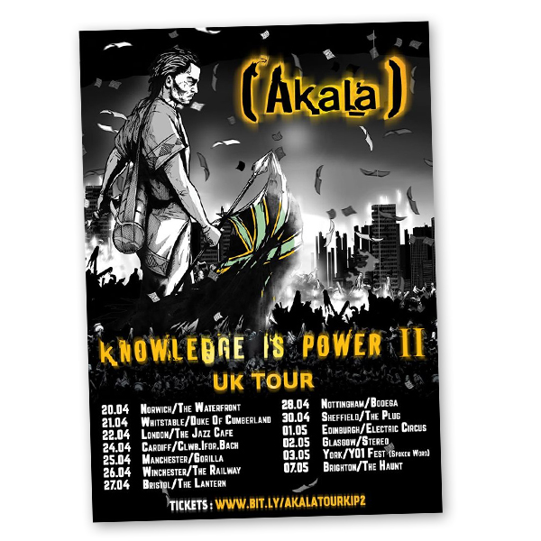 Buy Online Akala - Signed Tour Poster