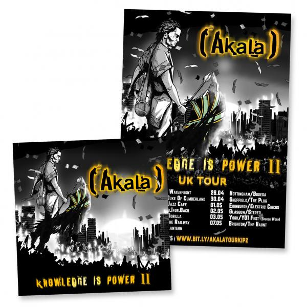 Buy Online Akala - Knowledge Is Power II CD Album + Signed Tour Poster Bundle