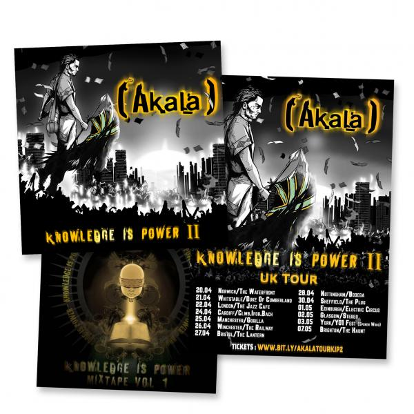 Buy Online Akala - Knowledge Is Power I + II CD Album + Signed Tour Poster Bundle