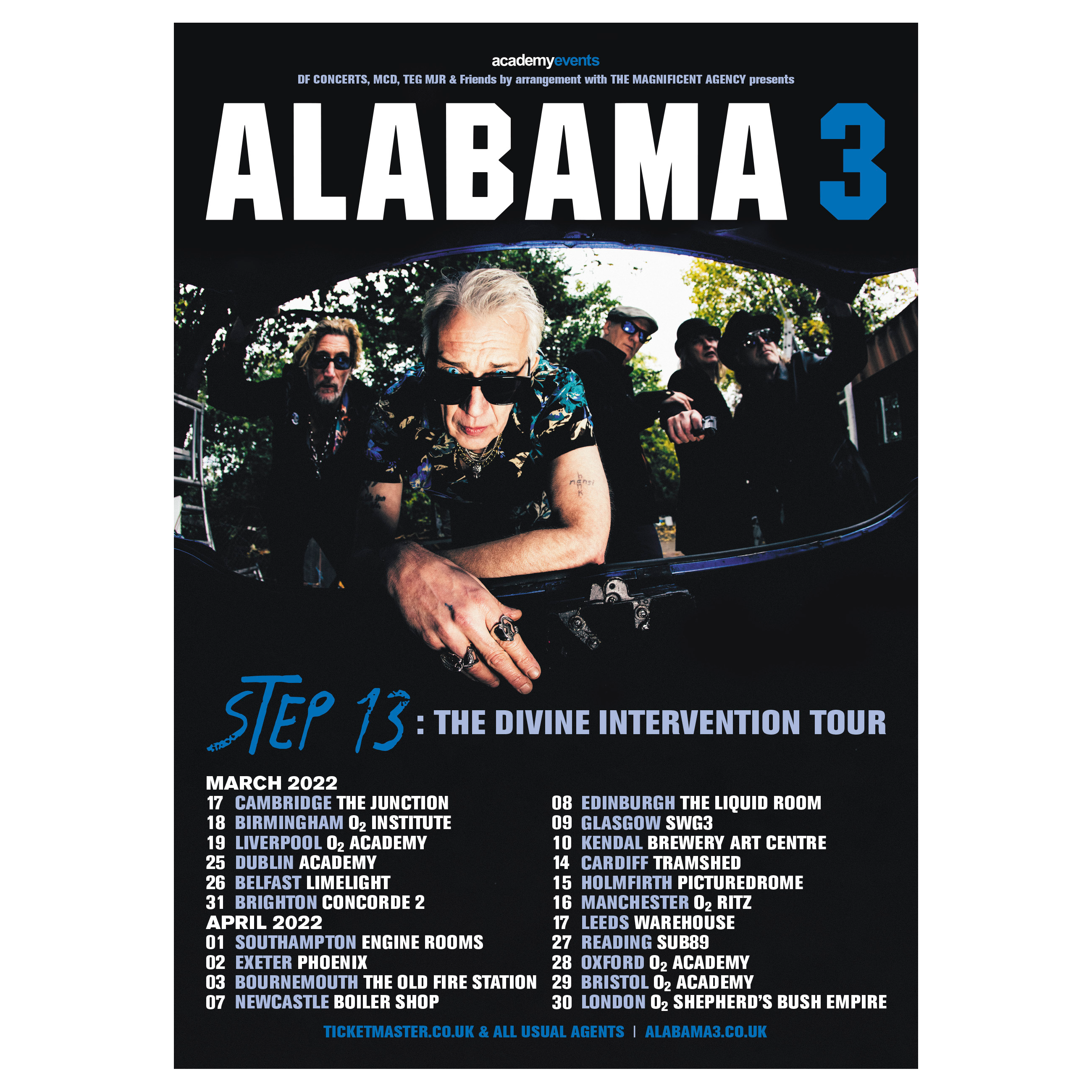 Buy Online Alabama 3 - Step 13: The Divine Intervention Tour