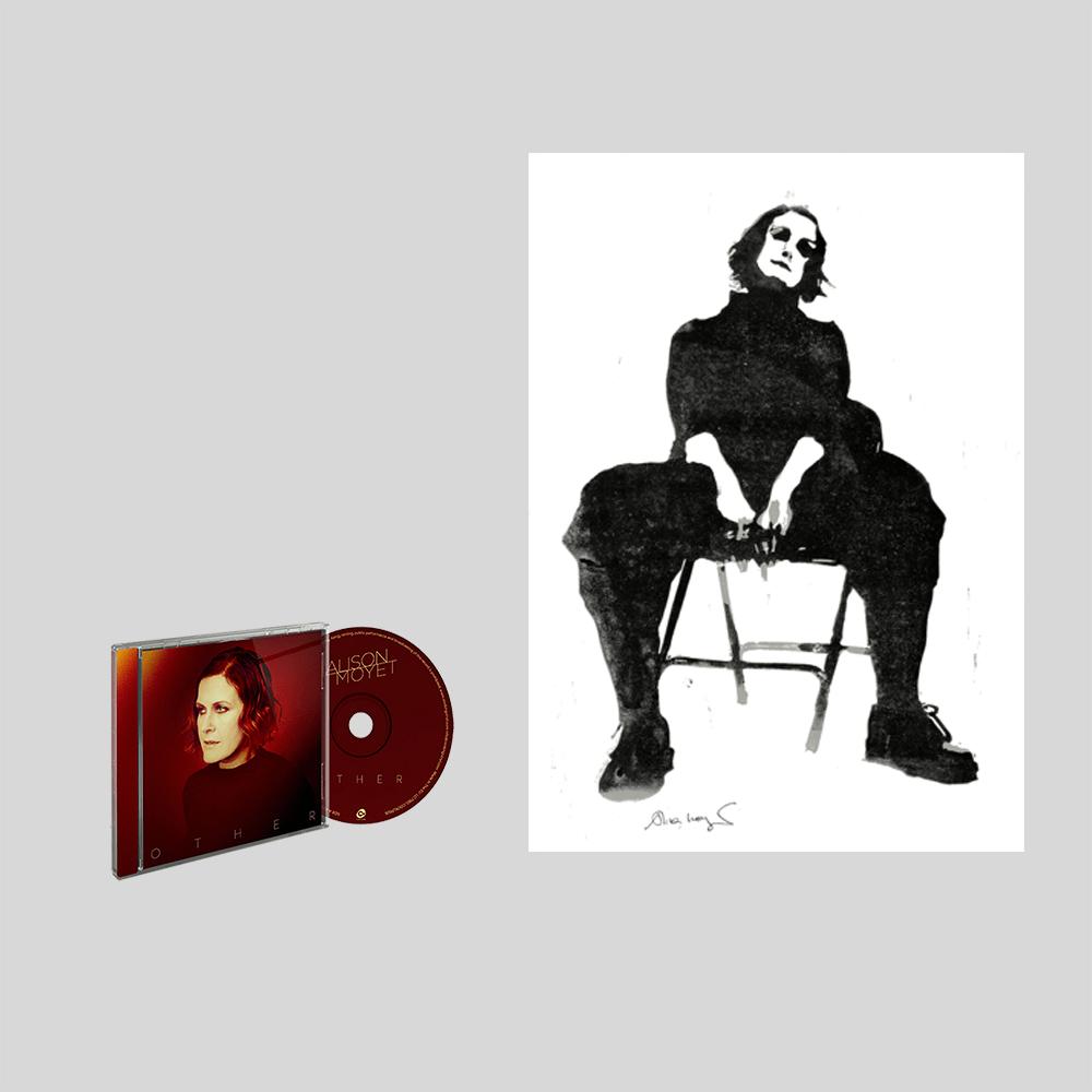 Buy Online Alison Moyet - CD & A3 numbered print of linocut created by Alison Moyet Bundle