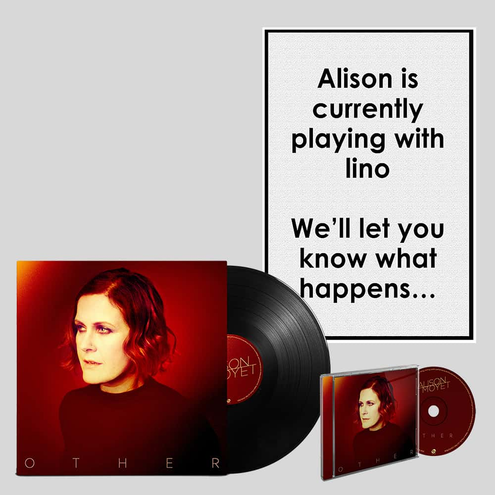 Buy Online Alison Moyet - CD, Signed A4 Print, Signed LP & A3 numbered print of linocut created by Alison Moyet Bundle
