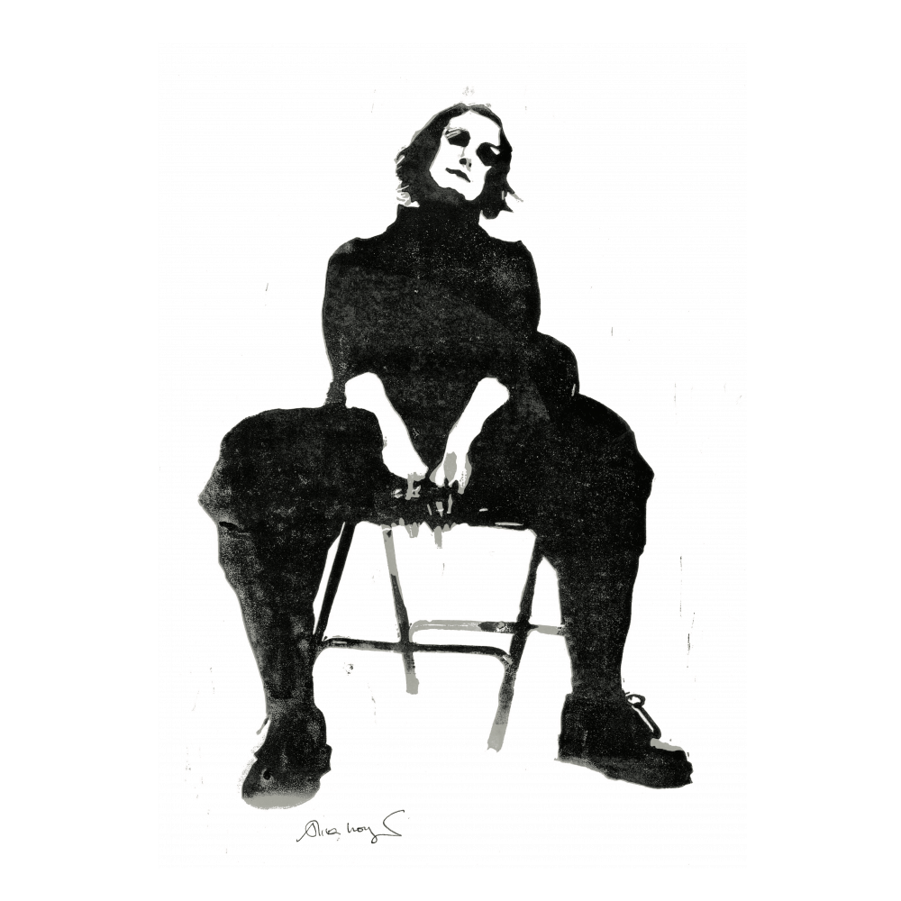 Buy Online Alison Moyet - Limited Edition Version 2 A3 numbered print of linocut created by Alison Moyet