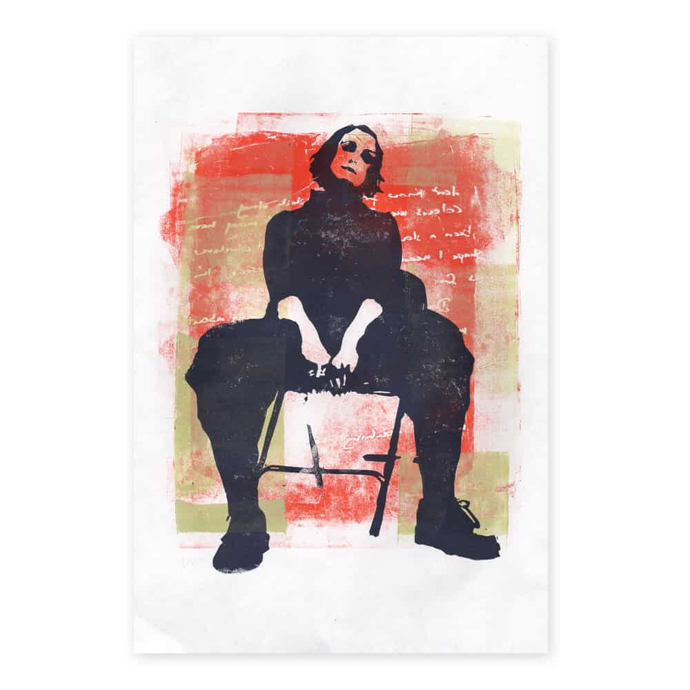 Buy Online Alison Moyet - A2 print of an original linocut created by Alison Moyet