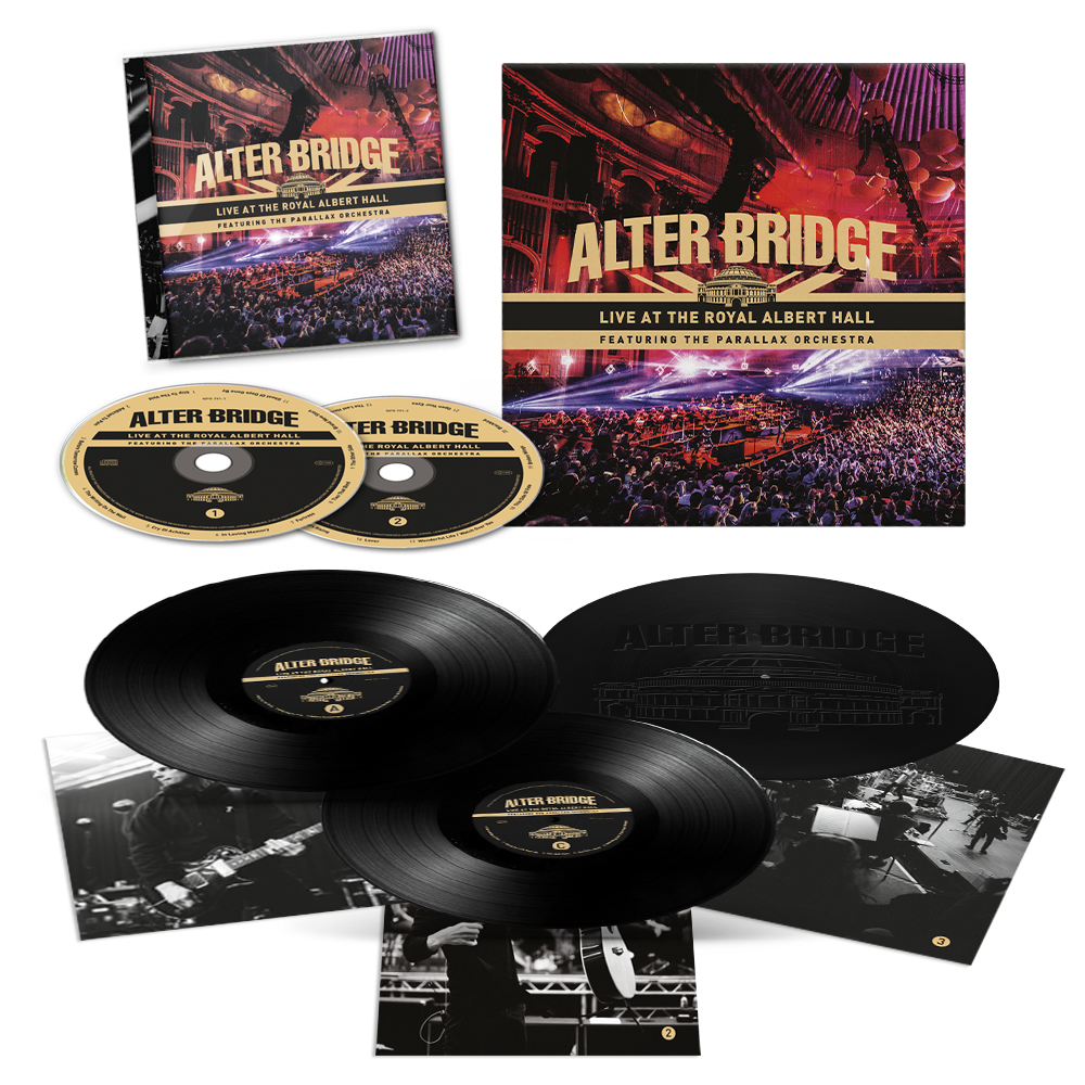Buy Online Alter Bridge - Live At The Royal Albert Hall Featuring The Parallax Orchestra Triple Vinyl + 2CD + Art Print