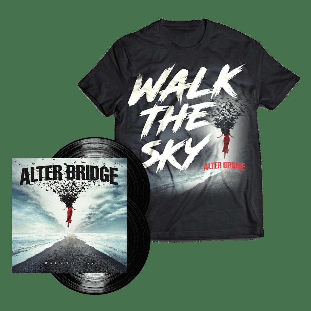 Buy Online Alter Bridge - Walk The Sky Black Double Vinyl + T-Shirt (Exclusive)