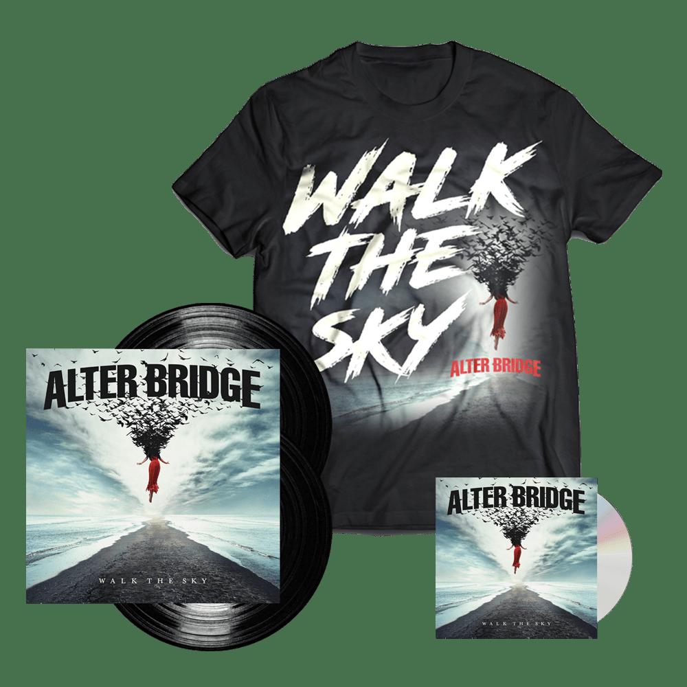 Buy Online Alter Bridge - Walk The Sky CD + Black Double Vinyl + T-Shirt (Exclusive)