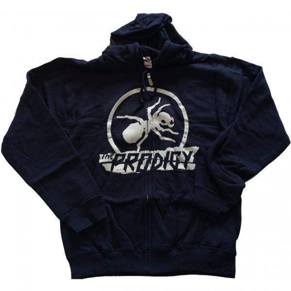 Buy Online The Prodigy - Torn Ant Logo Design Navy Zip Hoody