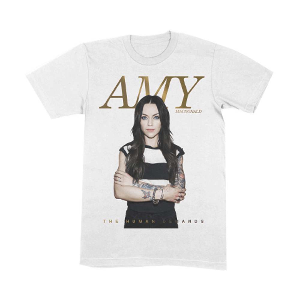 Buy Online Amy Macdonald - The Human Demands White T-Shirt