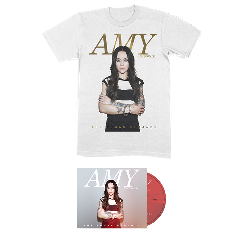 Buy Online Amy Macdonald - The Human Demands Deluxe CD + White T-Shirt + Signed Lyric Sheet