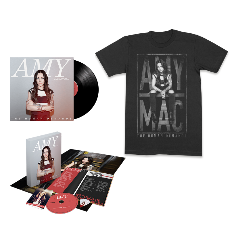 Buy Online Amy Macdonald - The Human Demands Boxset + Vinyl + Black T-Shirt