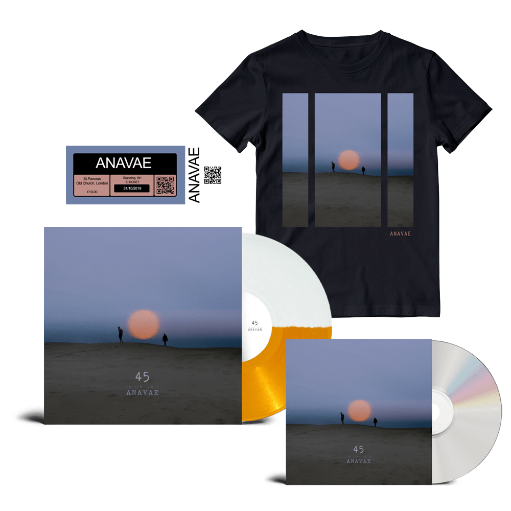 Buy Online Anavae - Signed CD + Signed Orange / White Vinyl + Album T-Shirt + St. Pancras Old Church Ticket