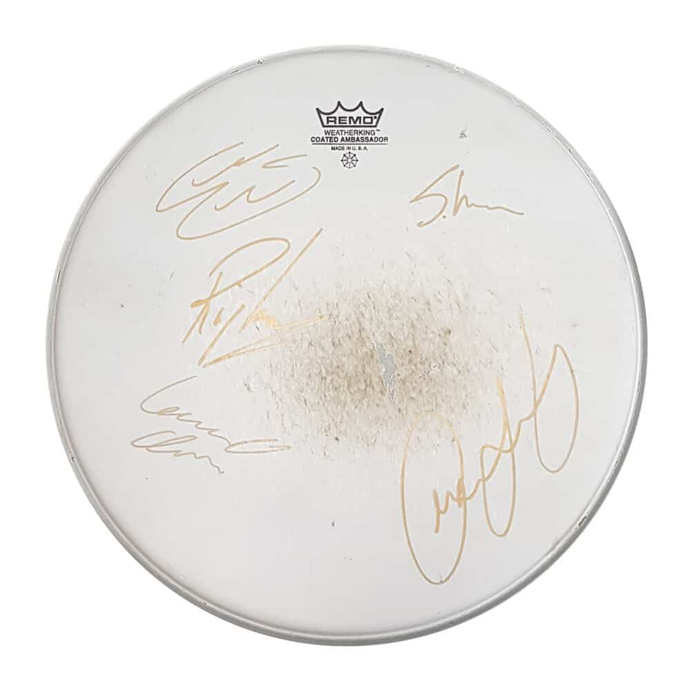 Buy Online Anchor Lane - Floor Tom Drum Skin: Signed by Anchor Lane & Ricky Warwick