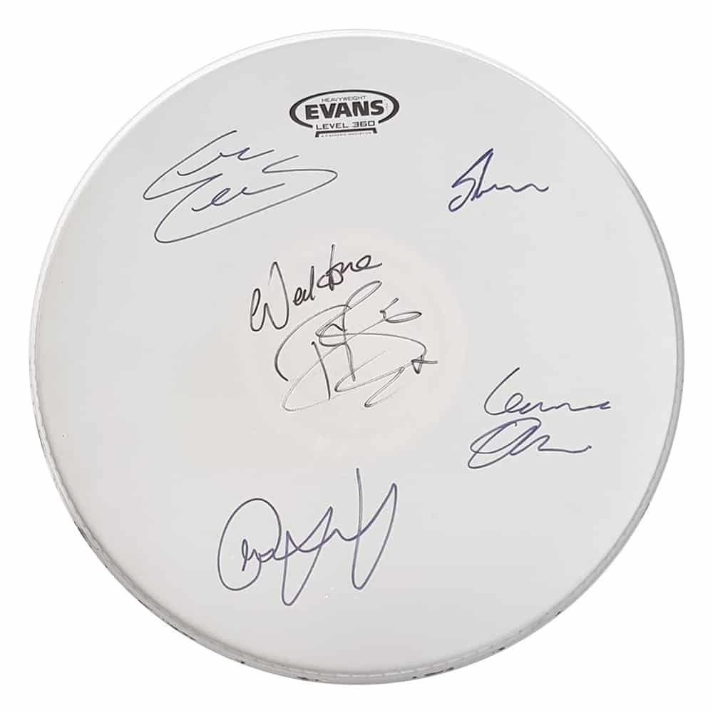 Buy Online Anchor Lane - Rack Tom Drum Skin: Signed by Anchor Lane & Toby Jepson