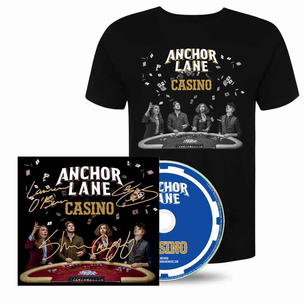 Buy Online Anchor Lane - Casino CD (Signed) + Limited Edition T-shirt