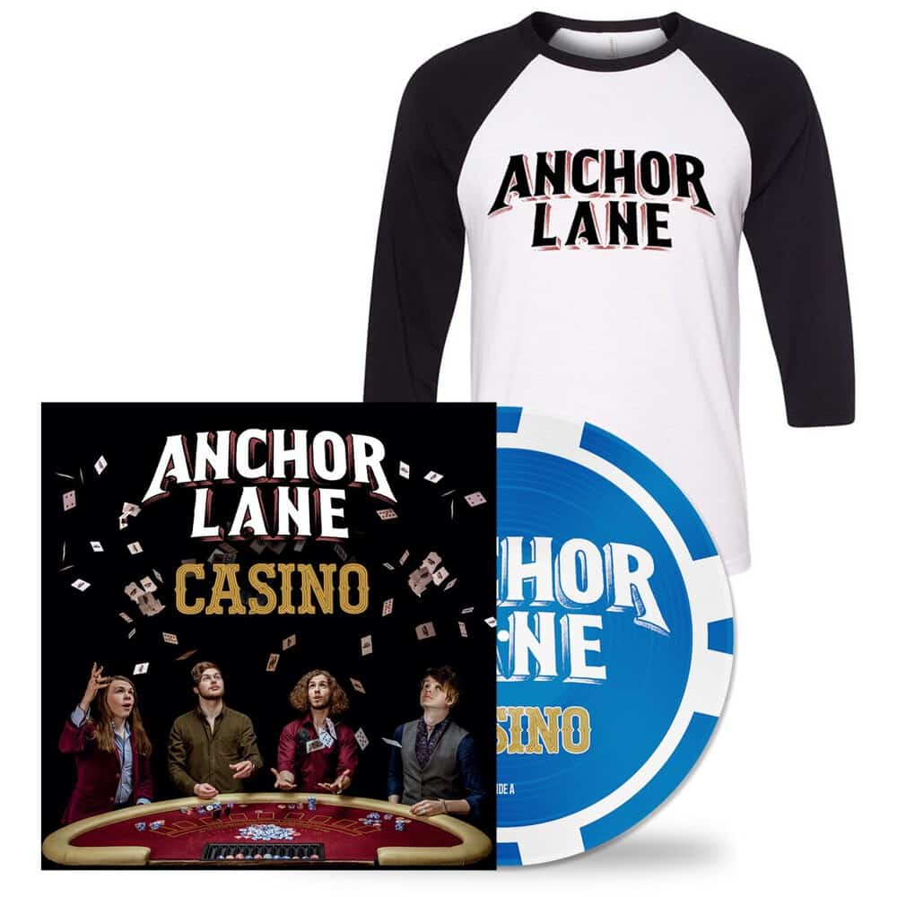 Buy Online Anchor Lane - Casino Double Sided Picture Disc Vinyl Album (Signed) + Alternative Logo T-shirt
