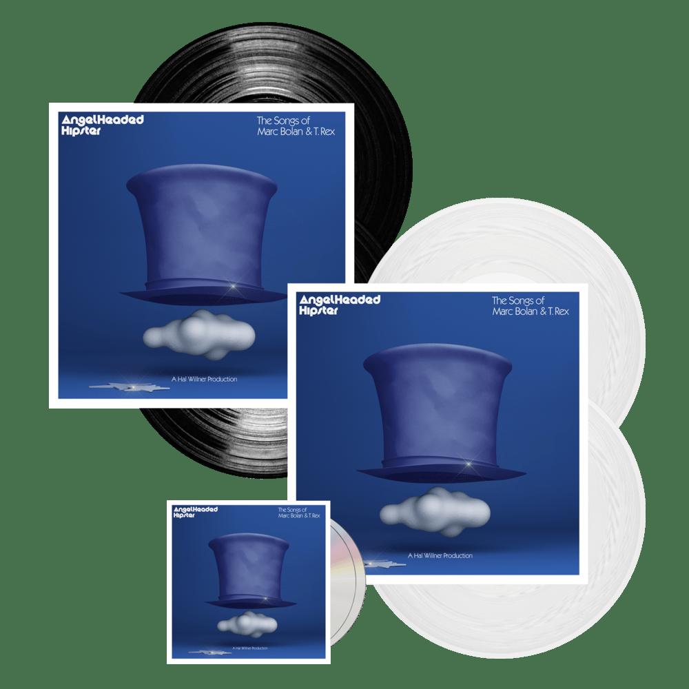 Buy Online Various Artists - AngelHeaded Hipster: The Songs Of Marc Bolan & T. Rex 2CD + Black Vinyl + White Vinyl (Ltd Edition)