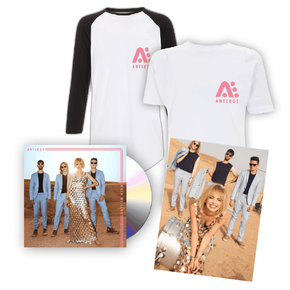 Buy Online Anteros - When We Land CD Album + T-Shirt