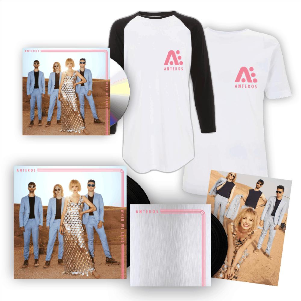 Buy Online Anteros - When We Land CD Album + 7-Inch Vinyl + T-Shirt