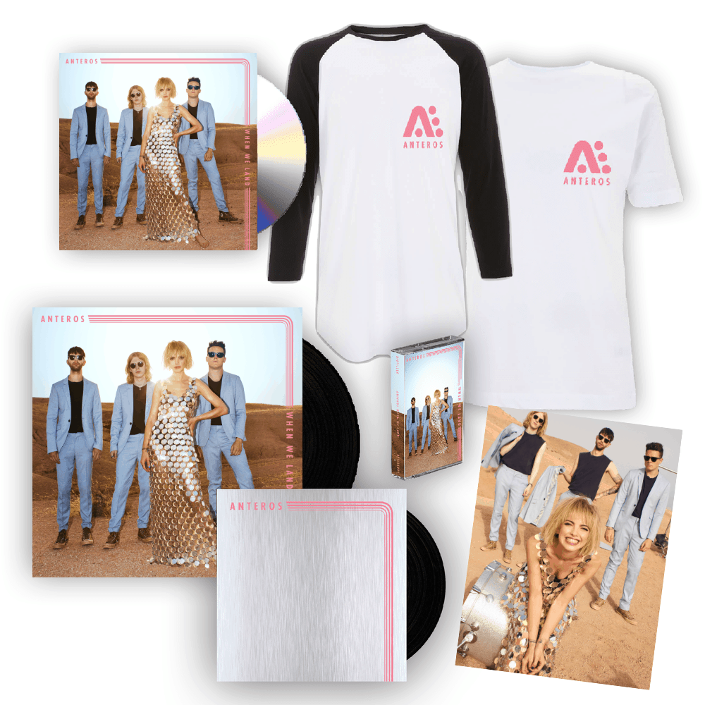 Buy Online Anteros - When We Land CD Album + Double 7-Inch Vinyl + Cassette + T-Shirt