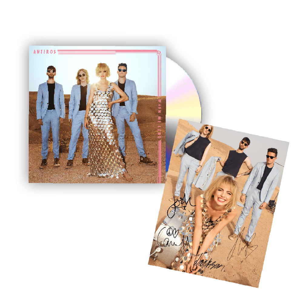 Buy Online Anteros - When We Land CD* (Includes Signed Print)