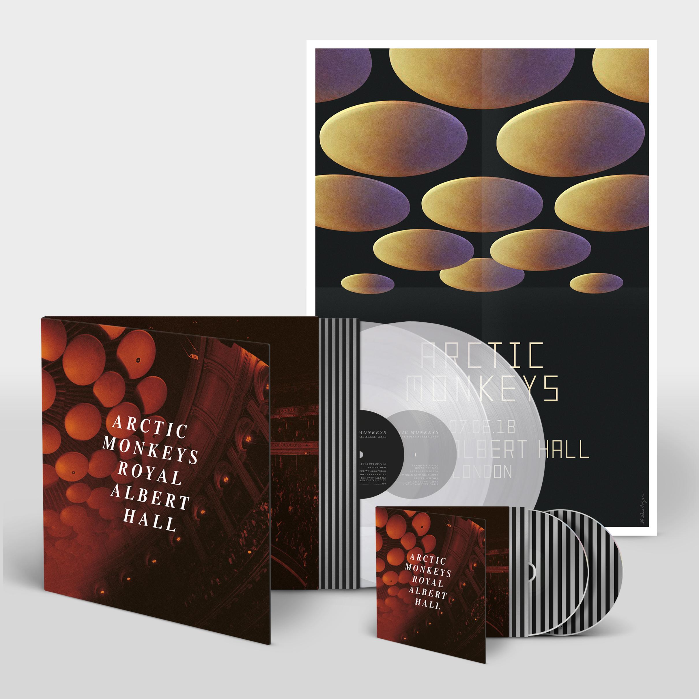 Buy Online Arctic Monkeys - Ltd Double LP / CD Bundle<br>Heavyweight Clear Vinyl<br>20 Tracks<br>Gatefold Sleeve<br>Exclusive A2 Poster
