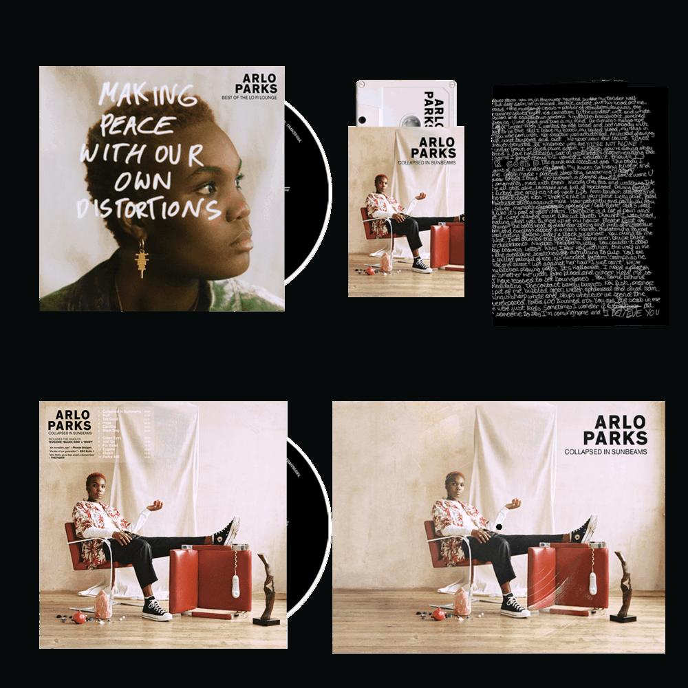 Buy Online Arlo Parks - CD (Signed) + Cassette + Bonus CD Best Of The Lo Fi Lounge (signed) + Flexi-disk + Poetry zine