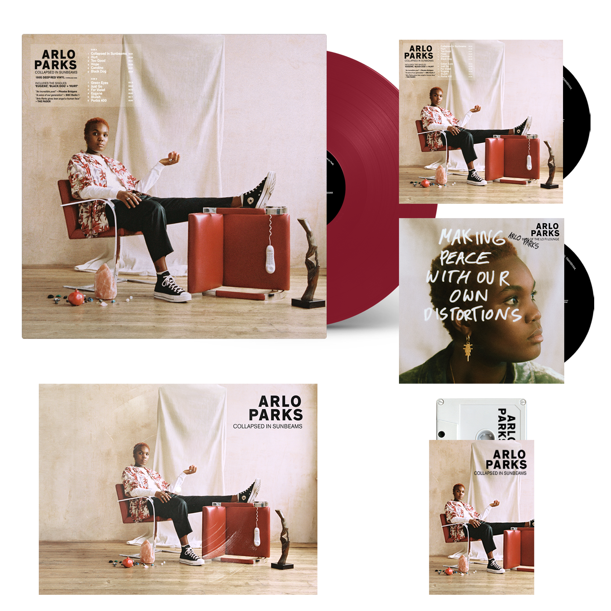 Limited Edition Coloured Vinyl + CD + Cassette + Bonus CD Best Of The Lo Fi Lounge (signed) + Flexi-Disk