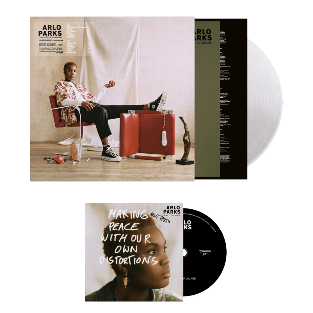 Buy Online Arlo Parks - Collapsed In Sunbeams Limited Edition Clear Vinyl (Store Exclusive, Signed) + Bonus CD Best Of The Lo Fi Lounge (Signed)