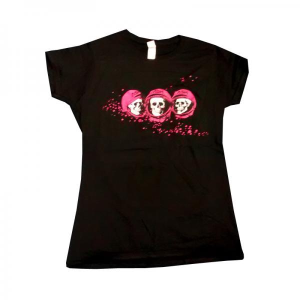 Buy Online Ash - Skulls Black T-Shirt